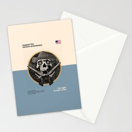 Support The Second Amendment Stationery Cards