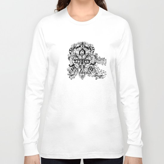 Mask Face Long Sleeve T-shirt