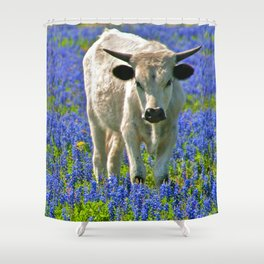 Indigo Calf Shower Curtain
