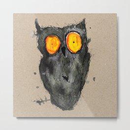 Scary owl Metal Print