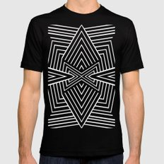X MEDIUM Black Mens Fitted Tee