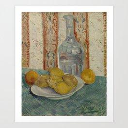 Carafe and Dish with Citrus Fruit Art Print