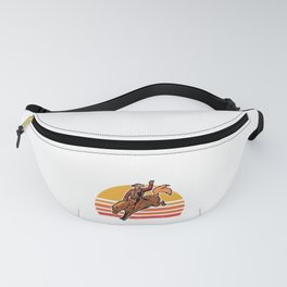 Vintage Cowboy Bucking Horse Rodeo Gift Fanny Pack