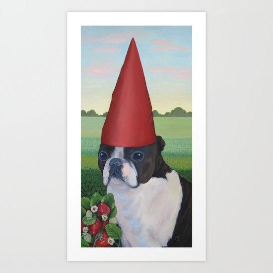 The Strawberry King Art Print