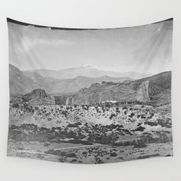Pikes Peak and the Garden of the Gods, looking over the Gateway. Wall Tapestry