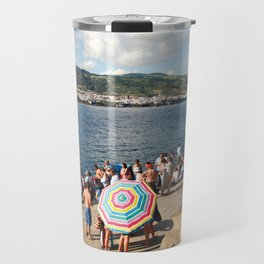 People waiting at the islet Travel Mug