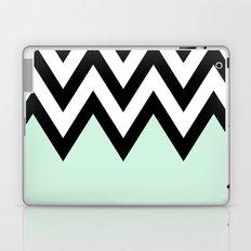Mint Piece Chevron Laptop & iPad Skin