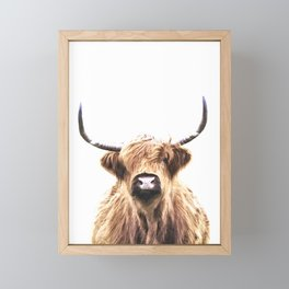 Highland Cow Portrait Framed Mini Art Print