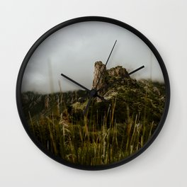 Foggy Mountaintop at Lost Mine Trail, Big Bend Wall Clock
