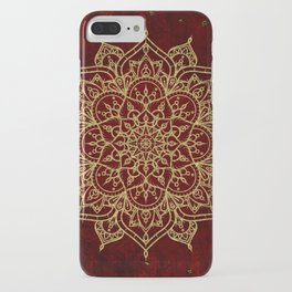 Deep Red & Gold Mandala iPhone Case