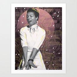 Maya Angelou (for #TimesUp no. 2) Art Print