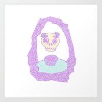 skeleton Art Prints featuring Skeleton by JasonSeven