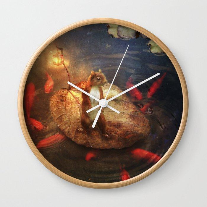 Columbus the Squirrel Wall Clock