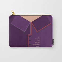 Wes Anderson's Grand Budapest Hotel - Minimal Movie Poster Carry-All Pouch