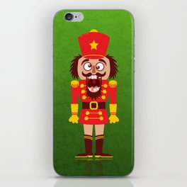 A Christmas nutcracker breaks its teeth and goes nuts iPhone Skin