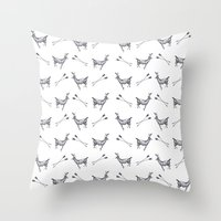stag Throw Pillows featuring stag by Ben Wills Illustration and Art