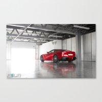 ferrari Canvas Prints featuring Ferrari by 4wheelsoflux