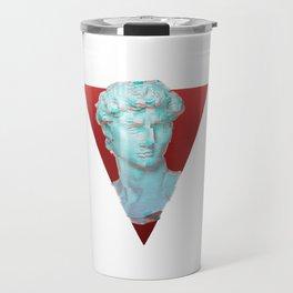 Aesthetic Greek Bust Gift Vaporwave Glitch effect statue Travel Mug