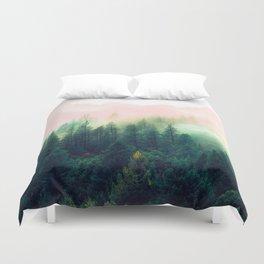 Watercolor mountain landscape Duvet Cover