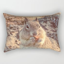 Happy Fluffy Squirrel Rectangular Pillow