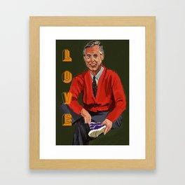 Mister Rogers Framed Art Print