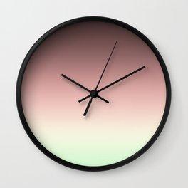 Ombre , pistachios Wall Clock