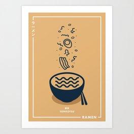 Ramen Series - Tonkotsu Art Print