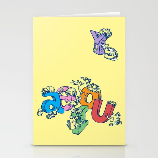 The Other Vowel Stationery Cards