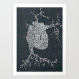 Monsters Heart 2 Art Print