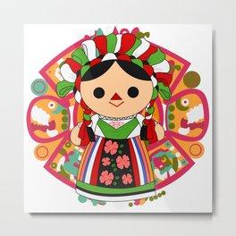 Maria 5 (Mexican Doll) Metal Print