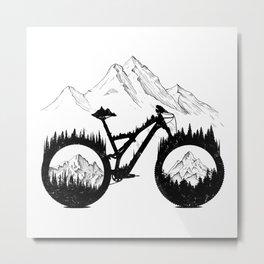 Enduro Mountains Metal Print