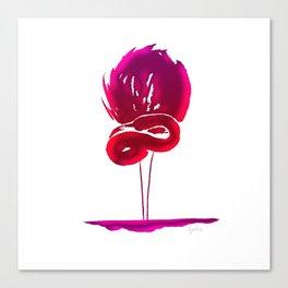 Fluorescent pink flamingo Canvas Print