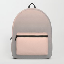 Gradient blush pink- grey Backpack