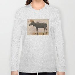 Vintage Illustration of a Moose (1874) Long Sleeve T-shirt