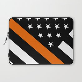 Search & Rescue: Black Flag & Thin Orange Laptop Sleeve