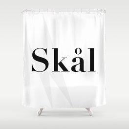 Skål (Cheers) - Black & White [Geometric] Shower Curtain