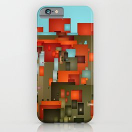 Abstract city in color by lh iPhone Case