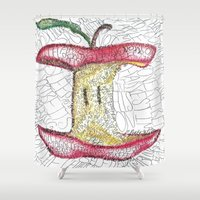 poetry Shower Curtains featuring Robert Frost Poetry Art by D. Renee Wilson