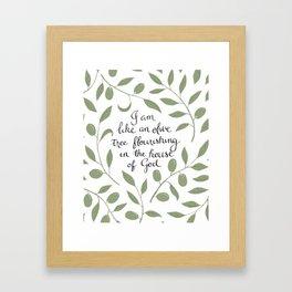 Psalm 52 Framed Art Print