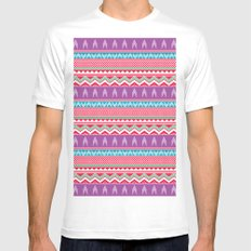 Going up? White MEDIUM Mens Fitted Tee
