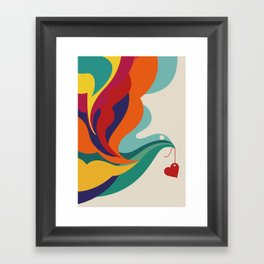 Love Message Framed Art Print