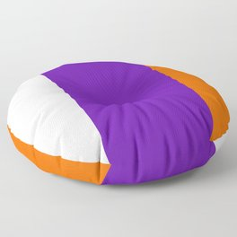 TEAM COLORS 8....Orange purple white Floor Pillow
