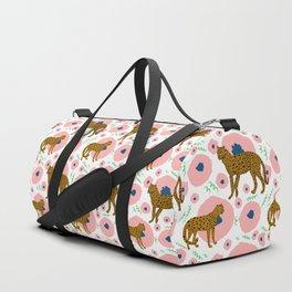 Cheetahs in Flowers Duffle Bag