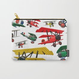 Assorted set of generic vintage First World War toy airplanes Carry-All Pouch