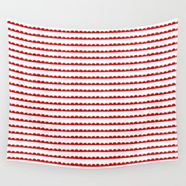 Red Scallop Wall Tapestry
