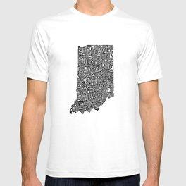 Typographic Indiana T-shirt