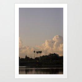 Pall Tree Skies Art Print