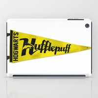 hufflepuff iPad Cases featuring Hufflepuff 1948 Vintage Pennant by Andy Pitts