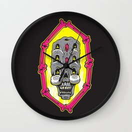 Triple Stacked Skellington Tower Wall Clock