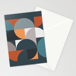 Mid Century Geometric 11/2 Stationery Cards